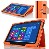 MoKo Slim Cover Case For Lenovo IdeaTab Lynx K3 / K3011 11.6 Inch Windows 8 Tablet ORANGE (with Smart Cover Auto...