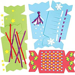 platzdeckchen aus moosgummi zum weben weihnachtsmotiv f r kinder zum basteln und verzieren 4. Black Bedroom Furniture Sets. Home Design Ideas