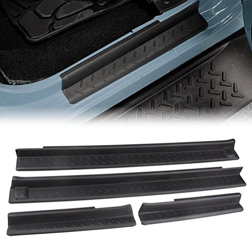 MINGLI-Front-and-Rear-Entry-Guards-Door-Entry-Sill-Plate-Protectors-For-2007-2016-Jeep-Wrangler