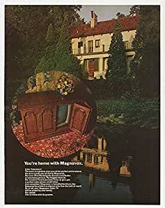 1970 Magnavox Color Television TV You're Home Print Ad