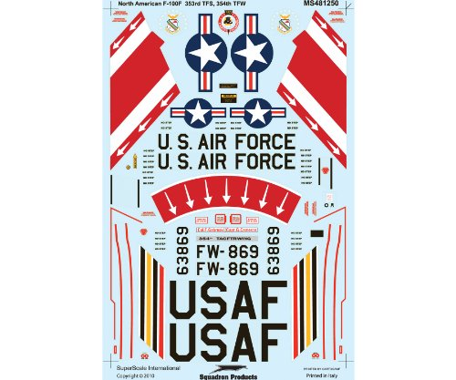 Superscale USA F-100F Super Sabre Decals - 1