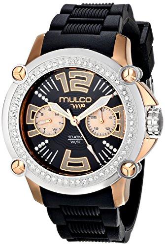 Mulco MW2Mujer, 28086s-025Analog Display reloj negro de cuarzo suizo