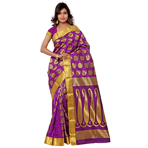Varkala Silk Sarees Silk Kanchipuram Saree With Blouse Piece (SS3110P_Magenta)