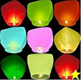 10 PCS Sky Lanterns Paper Lanterns Chinese Wishing Lantern for Birthday Wedding Party
