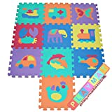 PlayMatOnline Drawing Soft Foam Odourless Play Mat Puzzle Animal & Transportation