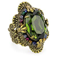 Sorrelli Wild Meadow Multi-Crystal Vintage-Inspired Adjustable Ring
