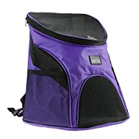 FakeFace Pet Dog Cat Puppy Soft-sided Mesh Carrier Backpack Pup Front Chest Back Pack w/ Comfortable Adjustable Shoulder Straps Outdoor Travel Cat Little Dog House for Small Dogs Cats Carrier Tote Bag