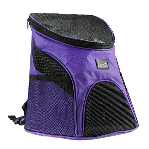 FakeFace Cat Dog Pet Carrier Mesh Pup Pack Soft-sided Outdoor Travel Backpack with Mesh Windows for Small Animal Carrier