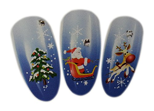 Christmas Snowflakes Design Nail Art Water Wrap Transfer Decals for Natural/False Nails