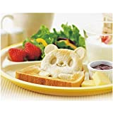 House of Quirk Best Adorable Animals Pocket Sandwich Cutter, Bread Cutter, Hand Tools Sandwich Kit, Food Deco, Sandwich Mold, Sandwich Maker, Toast Mold Mould, Cookie Stamp Kit, Bread Tool DIY, Panda /Bear/Frog 3 Animals, All Kids Love It!