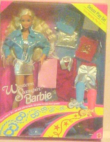Barbie Western Stampin Barbie Blonde Deluxe Play Set - Buy Barbie Western Stampin Barbie Blonde Deluxe Play Set - Purchase Barbie Western Stampin Barbie Blonde Deluxe Play Set (Barbie, Toys & Games,Categories,Dolls,Fashion Dolls)