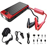 PowerAll PBJS16000-RS Rosso Red/Black Portable Power Bank and Car Jump Starter - 16,000mAh - 600A