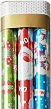 Christmas Wrapping Paper160Sets Green Ornaments Red Santa Let It Snow -3 Rolls