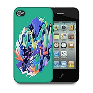 Snoogg Abstract Animal Designer Protective Back Case Cover For IPHONE 4