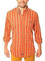 TIME OF BOCHA Camisa Hombre Lino (Naranja)