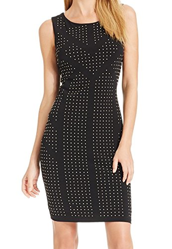 Calvin Klein Womens Studded Stretch Bodycon Dress