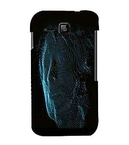 PrintVisa Modern Art Man Face 3D Hard Polycarbonate Designer Back Case Cover for Micromax Bolt S301