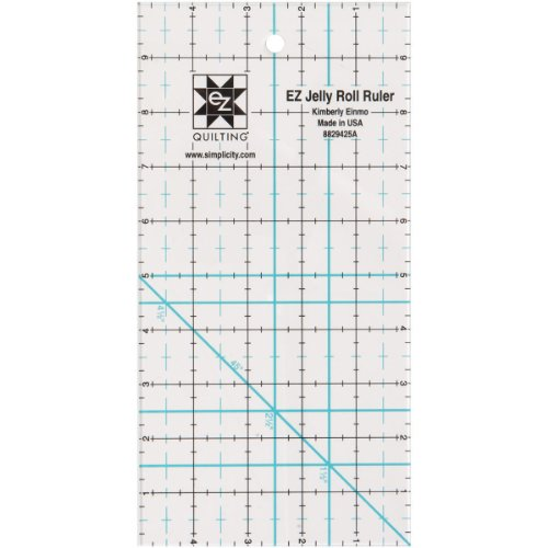 Simpli-EZ 8829425 Jelly Roll Ruler Quilting Tool, 5-Inch by 10-Inch