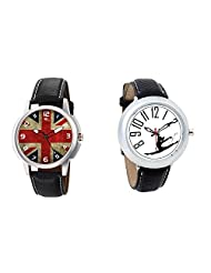 Gledati Men's Multicolor Dial And Foster's Women's White Dial Analog Watch Combo_ADCOMB0001882
