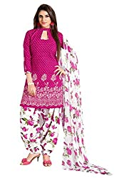Women Icon Latest Collotion of Patiyala Suits in Cotton Fabric & in attractive Pink,White Color WICVRCC39043