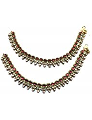 Shingar Ksvk Jewels Antique Gold Plated Payal / Pajeb / Anklet For Women (9731-payal)
