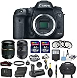 Canon EOS 7D Mark II 20.2MP CMOS Digital SLR DSLR Camera Bundle with Tamron AF 28-75mm f 2.8 Autofocus Lens & Tamron Auto Focus 70-300mm f 4.0-5.6 Di LD + Accessory Kit (17 items)