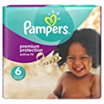 Pampers Active Fit Nappies, Size 6 (T...
