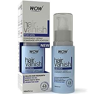 New WOW Hair Vanish For Men - Best Hair Retardant - 100ml / 3.4oz - New Improved Formula - Pack of 1