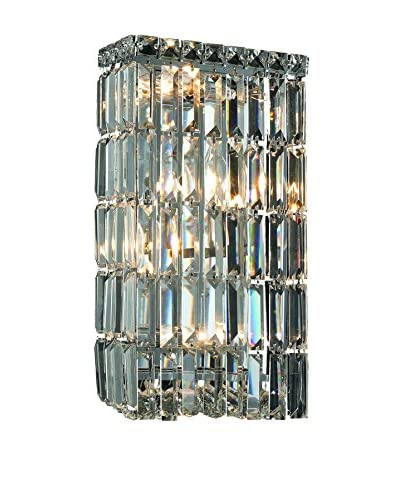 Crystal Lighting Maxim Collection 16″ Wall Sconce, Chrome