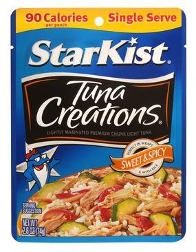Starkist Tuna Creations 2.6oz Pouch (Pack of 12) (Sweet & Spicy)