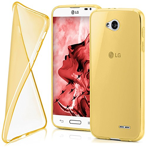 OneFlow PREMIUM - AERO-CASE in silicone trasparente (ultra slim) - per LG L70 / L65 - CHROME-GOLD