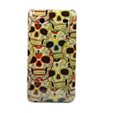 Wall- Skull A87 Heart Flower Hard Skin FCase Cover for Samsung Galaxy S Advance i9070 + One Headset Winder