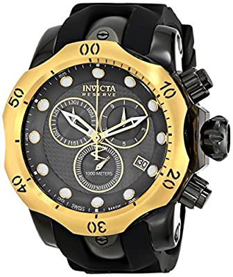 Invicta Men's 16154 Venom Analog Display Swiss Quartz Black Watch