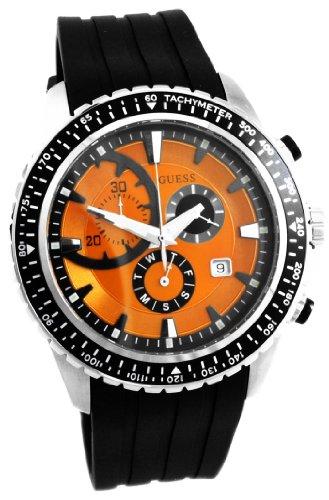 Guess W16545G4 - Reloj cronógrafo de cuarzo para hombre con correa de caucho, color negro
