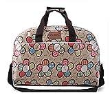 Youchan(ヨウチャン) ボストン バッグ トラベル 旅行 ポップ 総プリント 可愛い 大きめ たっぷり 収納 アウトドア ジム トート ママバッグ マザーズ プレゼント 鞄 かばん 小物 (Aタイプ)