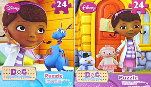 Disney Doc McStuffins Theme 24-Piece Puzzles Size 9.125 Inches x 10.375 Inches (2 Pack) - 1