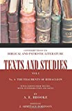 img - for The Fragments of Heracleon: (Texts and Studies: Contributions to Biblical and Patristic L) book / textbook / text book