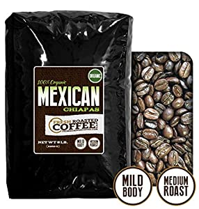 Organic Mexican Chiapas Coffee, Whole Bean, Fresh Roasted Coffee LLC