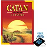 The Settlers of Catan: 5-6 Player Extension 5th Edition with Free Set of Polyhedral Wiz Dice