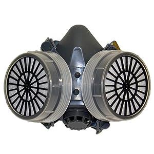TecTake® Profi Lackiermaske Atemschutzmaske Maske für Lackierpistole