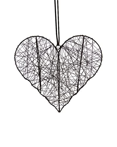 Lene Bjerre Large Carna Heart, Charcoal