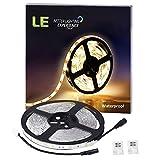 LE-Waterproof-12V-Flexible-LED-Strip-Lights-3000K-Warm-White-150-Units-SMD-5050-LEDs-110-Lumensft-22-wattsft-12-Volt-LED-Light-Strips-Pack-of-165ft5M