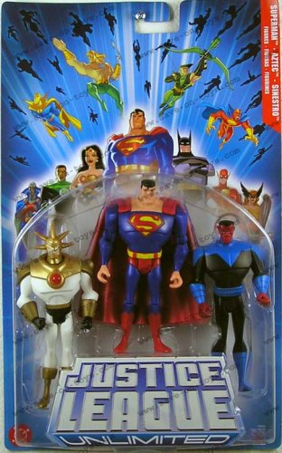 Picture of Creative Innovations & Sourcing Justice League Basic Figures: Superman, Sinestro, Aztec 4.75