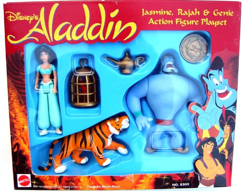 Buy Low Price Arcotoys Disney's Aladdin Action Figure Playset  Jasmine, Rajah & Genie (B000CHBUDM)