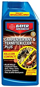 Bayer Advanced 700310 Carpenter Ant and Termite Killer Plus Concentrate, 32-Ounce