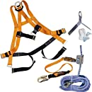 Miller by Honeywell BRFKT50/50FT 50-Feet Titan ReadyRoofer Fall Protection System with Full-Body Harness, Tongue Buckle Leg Strap