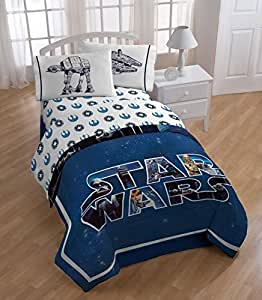 Amazon Com Star Wars Twin Comforter And Sheet Set Home