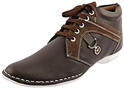 Footista Mens Brown Synthetic Boots - 7 UK