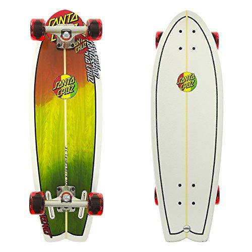 Santa Cruz Landshark Classic Rasta Cruzer Complete Skateboard, Assorted, 27.7in