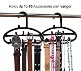 Royal Cloak Belt, Scarf & Jewelry Hanger, Hold All Your Accessories With This Rack! Love It Or Your Money Back! Best Space-Saving Plastic Organizer For Closet, Black